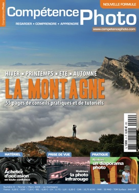 Couverture du magazine Competence photo sur la montagne
